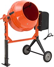 SUNCOO 3/4HP 4.2 Cu Ft Electric Concrete Cement Mixer Mortar Mixing Stucco Seeds Portable..