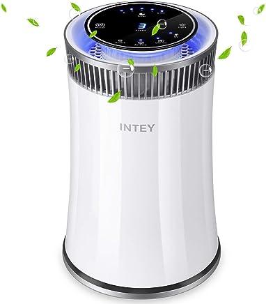 INTEY 空気清浄機 花粉症対策 脱臭 タバコ イオン発生 5段風量設定 微粒子99.9%除去 HEPAフィルター搭載
