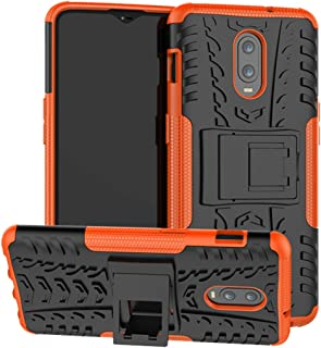 Sucnakp OnePlus 6T case, TPU Shock Absorption Technology Raised Bezels Protective Case Cover for OnePlus 6T Smartphone (New Orange)