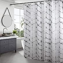 Eurcross 72W x 72L tinta unita resistente e impermeabile con occhielli in metallo Poliestere Gray pesante tenda da doccia in poliestere
