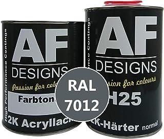 Alex Flittner Designs 2K Lack 3 kg Set RAL 7012 BASALTGRAU stumpfmatt Holz Maschinen Industrielack LKW NFZ