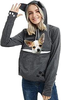 Best Womens Pet Carrier Shirts Kitten Puppy Holder Animal Pouch Hood Sweatshirt Review