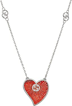 Gucci - Enameled Heart Necklace