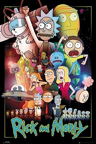 GB Eye, Rick y Morty, Guerras, Maxi Poster