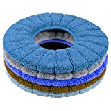 Clarmonde Thicken Toilet seat Cover Cushion Pads Luxury Toilets Warm Toilet seat Covers Warm Toilet Seat Mat Super Warm Universal (5-Pack)
