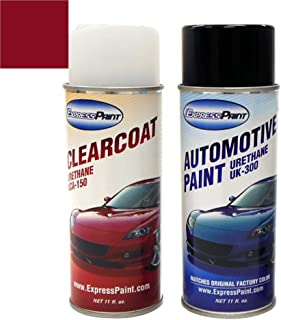 ExpressPaint Aerosol - Automotive Touch-up Paint for Honda Civic - Habanero Red Pearl Clearcoat YR-557P - Color + Clearcoat Package