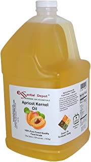 Apricot Kernel Oil - 1 Gallon - Food Grade - safety sealed HDPE container with resealable cap