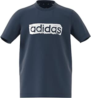 adidas B G T2 Children's T-Shirt, Boys, T-Shirt, GN1470, azmatr/White, 10 Years