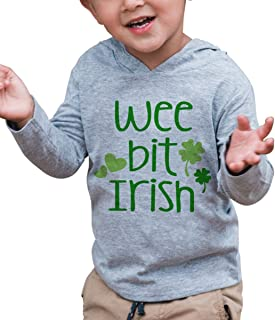 7 ate 9 Apparel Kids Wee Bit Irish St Patrick's Day Hoodie Pullover 5T Grey