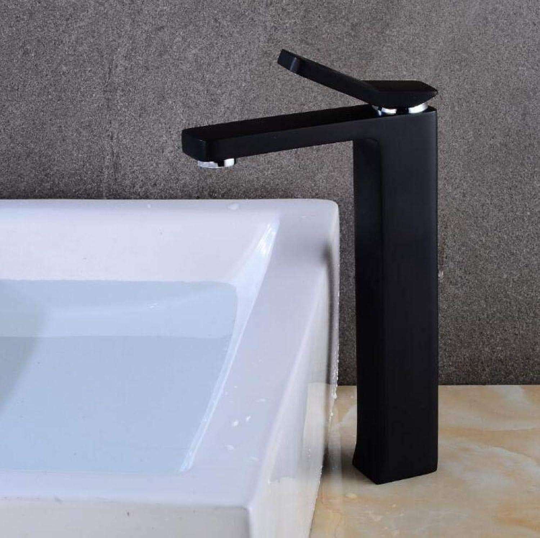 Waschtischarmaturen Elegante Waschbecken Mischbatterie Bad Wasserhahn Warm und Kalt Chrom Finish Messing Waschbecken Wasserkran Schwarz