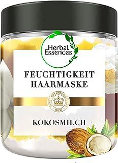 Herbal Essences PURE:renew Kokosmilch Feuchtigkeit Haarmaske Coconut Milk, 250 ml, Kokos, Haarpflege Glanz, Haarpflege Tro...