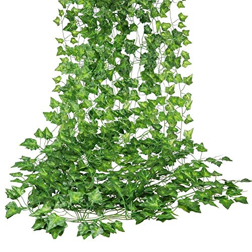 12 Pack (79 inch per stuk) Fake Ivy Kunstmatige klimopbladeren Groen slingers Opknoping voor Wedding Party Garden Wall Home Kitchen Accessories Decoration