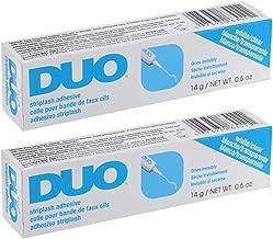 DUO Strip Lash Adhesive, Clear, 0.5oz x 2 pack