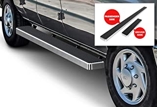APS iBoard Running Boards 6 inches Silver Custom Fit 1999-2014 Ford Econoline Full Size Van (Nerf Bars Side Steps Side Bars)