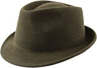 a0c15c8d387 Classic Italy Nude Felt Trilby Wool Felt Trilby Hat Packable