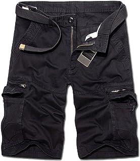 d5fbb83edb03f0 Uomo Traspirante Larghi Bermuda Pantaloncini Casual Pantaloni Cargo con  Tasconi