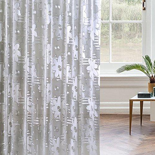Rideau de douche PVC imperméable à l'eau Mildewproof Semi transparent salle de bain coupe rideaux ( taille : 180*180cm )