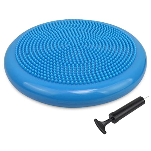 Inflatable Yoga Balance Board Disc Gym Stability Air-Filled Wobble Pad Physio