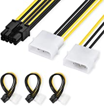 ELUTENG 8 Pin PCIe to Dual 4 Pin Molex Connector Cable [3 Pack ] LP4 to 8PIN PCI express Power Cable 18 AWG Compatible for ASUS, NVIDIA, AMD,EVGA GeForce Graphic Cards 5.5inch