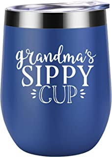 Gifts for Grandma - Grandma's Sippy Cup - Funny Grandma Grandmother Gifts, Birthday, Christmas Gifts for Grandma - Great Grandma, Best Grandma, New Grandma, Nana, Mimi Gifts - Coolife Wine Tumbler Mug
