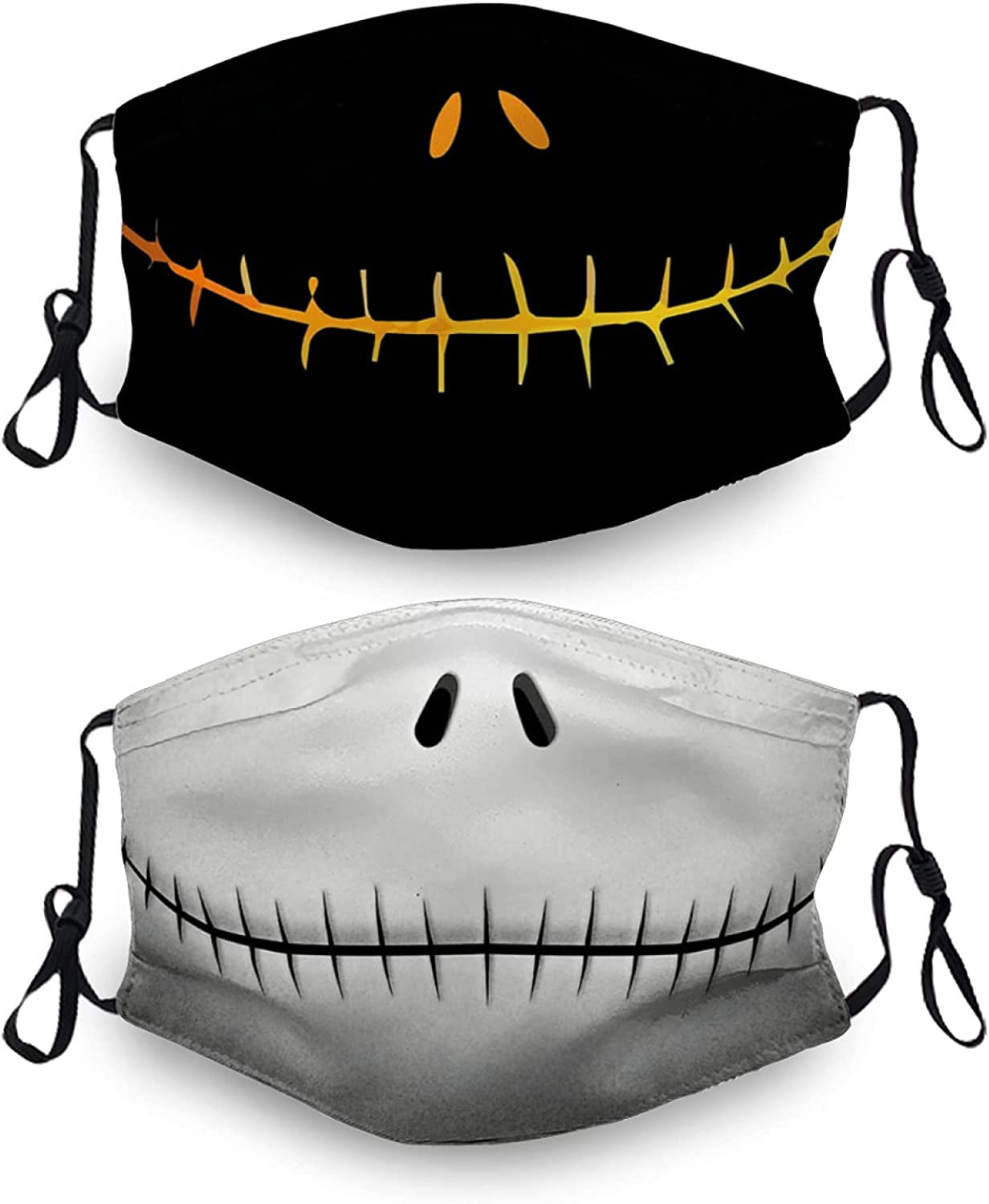 The Nightmare Before Christmas Mouth Cover with 4 Filter, Breathable-Adjustable Filters for Adults