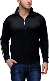 Scott International Dryfit Sports Jackets for Men - Black with White Stripes