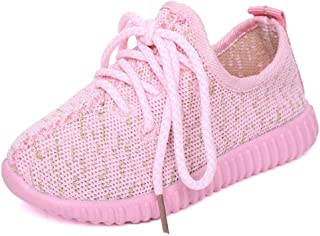Kids Boys Girls Lace Up Breathable Mesh Shoes Running Sneakers Sports Non Slip Rubber Sole Shoes (Toddler/Little Kid)