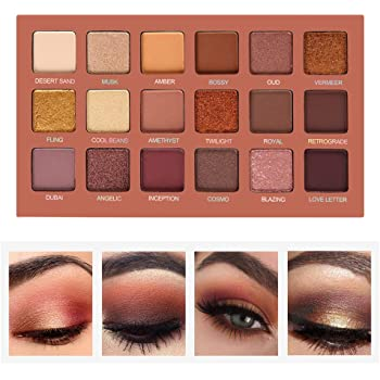 Eyeshadow Palette Professional Smokey Eye Shadows Nudes Highly Pigmented 18 Warm Chocolate Colors Matte Shimmer Neutral Eyeshadow Makeup Kits