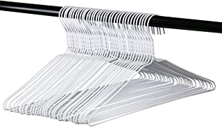 Long Lasting Vinyl Coated Wire Metal Hangers, White, Standard Adult Size, Pack of 36. Made in The USA