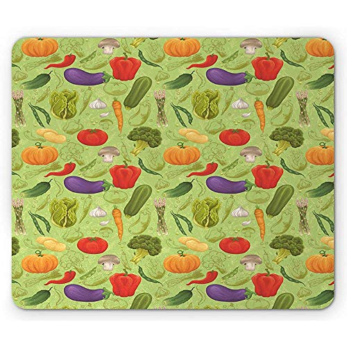 Muismat voor in de tuin, bioland, voeding, tuinbouw, planten, groenten, broccoli, biezen, paddenstoel, meerkleurig