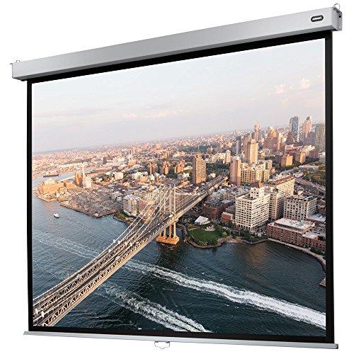 celexon manuell ausziehbare Heimkino- und Business-Rollo-Beamer-Leinwand 4K und Full-HD mit Slow-Return Professional Plus - 160 x 120 cm - 4:3
