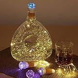 JAYLONG 3 Unids Tapón De Corcho Botella De Vino LED De 7 Colores + Blanco Cálido USB Recargable Luz De Cadena Luz De Noche Creativa Lámpara Romántica Atmósfera del Partido Decoración