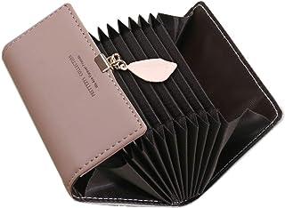 Porta Carte di Credito Donna SAMKING Genuino del Titolare della Carta di Credito in Pelle RFID Schermato Portafoglio Cerni...