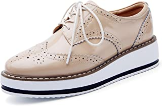 Best metallic faux leather oxfords Reviews