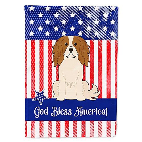 Patriótica Estados Unidos Cavalier Spaniel bandera lona casa tamaño bb3053chf