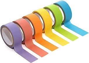 Kodak Washi Tape Set 6 Colorful Rolls of Decorative 15mm Crafting Tape for Scrapbooking, Art Projects & Photo Album Borders – Perfect for 2x3 Printomatic, Mini Shot & Mini 2 Instant Print Cameras