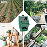 Sonkir Soil pH Meter, MS02 3-in-1 Soil Moisture/Light/pH Tester Gardening Tool Kits for Plant Care, Great for Garden… 9 Kindly NOTE: This soil tester can not be applied to test pH value of any other liquid. If the soil is too dry the indicator will not move, and water it before testing. 3-IN-1 FUNCTION: Test soil moisture, pH value and sunlight level of plant with our soil meter, helps you specialize in grasping when you need to water your plant. ACCURATE & RELIABLE: Double-needle Detection Technology strongly enhances the speed and accuracy of detecting and analyzing soil moisture and pH acidity.