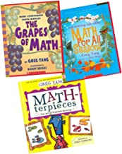 Greg Tang Math Pack (3 Books) (Includes: MATH-terpieces: The Art of Problem Solving; The Grapes of Math: Mind-Stretching Math Riddles; and Math for all Seasons: Mind Stretching Math Riddles)