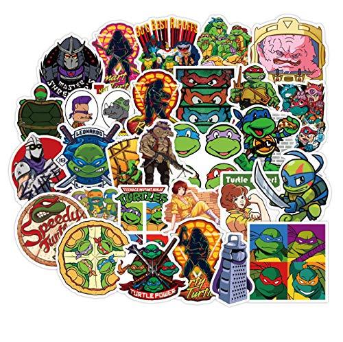 Ligoi 50Piezas Teenage Mutant Ninja Turtles Maleta Pegatinas Graffiti Pegatinas Maleta MonopatíN Guitarra PVC Coche Pegatinas Impermeables