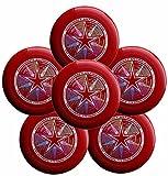 Discraft Ultra-Star 175g Ultimate Frisbee deporte disco (6Pack) elegir color, Rojo oscuro