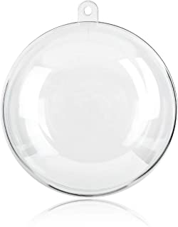 himaly 20 Pack 80mm Clear Plastic Fillable Ornaments Ball, for Christmas, Wedding, Party, Home Decor