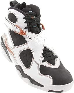 Air Jordan Men's Retro 8 LS (white / anthracite / dark orange)-12.0