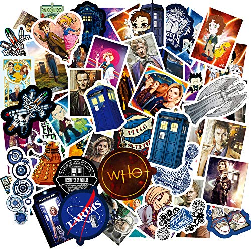 Doctor Who Stickers 100 for Laptop and Decals,Vinyl Stickers for Water Bottle Laptop Stickers Pack