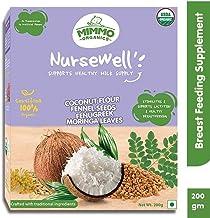 Mimmo Organics Nursewell Breast Feeding Supplement With Fenugreek, Fennel Seeds, Coconut Flour & Moringa Leaves | 100% Cer...