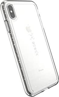 Speck Products GemShell Glitter iPhone Xs Max Case, Clear with Gold Glitter/Clear