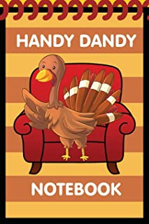 Handy Dandy Notebook: Thanksgiving Turkey Style - Kids little 6x9 inch notebook for drawing and detective clues with 120 s...