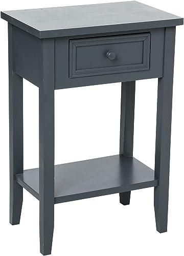 ATMOSPHERA Tisch-Leselampen Charme 1 hublade Grau