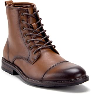 Jazame Men's Casual Lace-Up Motorcycle Combat Chukka Sneakers Ankle High Boots