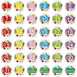 SICOHOME Numbered Spot Markers and Labels,36pcs,4