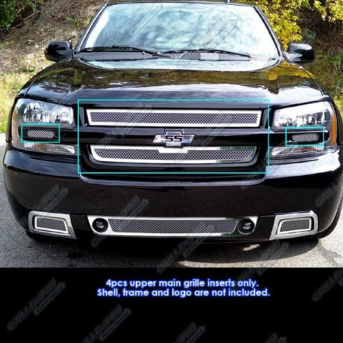 APS Compatible with 2006-2009 Chevy SS Trailblazer I Mesh Grille Oklahoma City Mall Opening large release sale